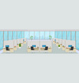 modern office center with workplaces empty vector image vector image