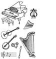 music black white1 vector image