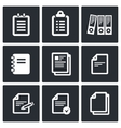 Notepad paper documents Icons set vector image vector image