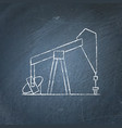 oil rig icon chalkboard sketch vector image