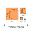 paper products orange linear icons set vector image vector image