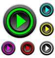Play sign buttons set vector image