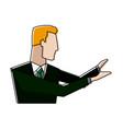 portrait of businessman gesturing person vector image vector image