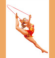 rhythmic gymnastics rope athletes sportswoman vector image vector image