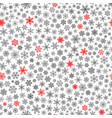 seamless pattern of snowflakes red and black on vector image vector image