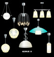 set of different modern lights vector image