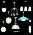 set of different modern lights vector image vector image