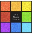 Set of patterns of colorful mosaic vector image vector image