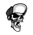 skull wearing hat vector image vector image