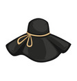 sophisticated headwear with ribbon stylish hat vector image vector image