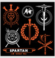 Spartan team logo and emblems - set