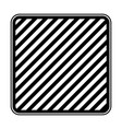 square emblem in monochrome and striped vector image vector image