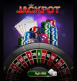 stacks of red blue green casino chips top vector image vector image