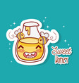 sweet honey kawaii cartoon vector image