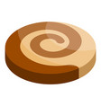 swirl biscuit icon isometric style vector image vector image