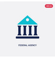 two color federal agency icon from army and war
