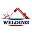 welding work symbol vector image vector image