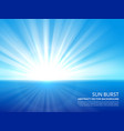white sun burst in blue sky abstract sunlight vector image vector image