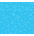 winter blue background with fallen snowflakes vector image vector image