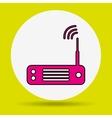 wireless signal design vector image vector image