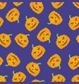 holiday seamless halloween pattern vector image