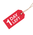 1 day left to go vector image vector image