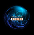 abstract blue particles background vector image vector image