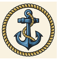 anchor and rope design vector image vector image