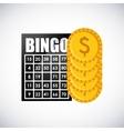 bingo casino game icon vector image vector image