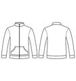 Blank sweatshirt template vector image vector image
