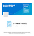 blue business logo template for browser dynamic vector image vector image