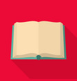 book deployed icon flat style vector image