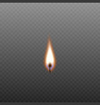burning candle wick isolated on transparent vector image vector image