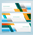 business banners set abstract background vector image vector image