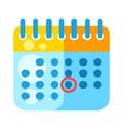 calendar cartoon stylized item vector image