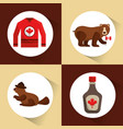 canada country symbols vector image