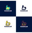 car like concept logotype template design vector image