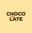 chocolate cafe logo vector image