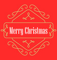 Christmas monograms Festive Card Lineart holiday vector image vector image