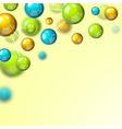 Colored molecule 3d background vector image