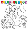 coloring book easter rabbit theme 3 vector image vector image
