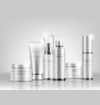 cosmetic bottle mock up set vector image
