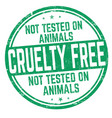 cruelty free sign or stamp vector image