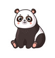 cute panda sits on a white background vector image vector image