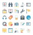 Digital Marketing Icons 6 vector image vector image