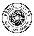 donuts home desserts vintage label vector image
