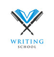 educational writing logo vector image