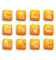 equipment buttons vector image vector image