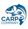 fish carp logo vector image vector image