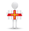 flag of Bailiwick of Guernsey vector image vector image
